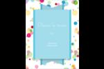 Confettis d'anniversaire Carte Postale - gabarit prédéfini. <br/>Utilisez notre logiciel Avery Design & Print Online pour personnaliser facilement la conception.