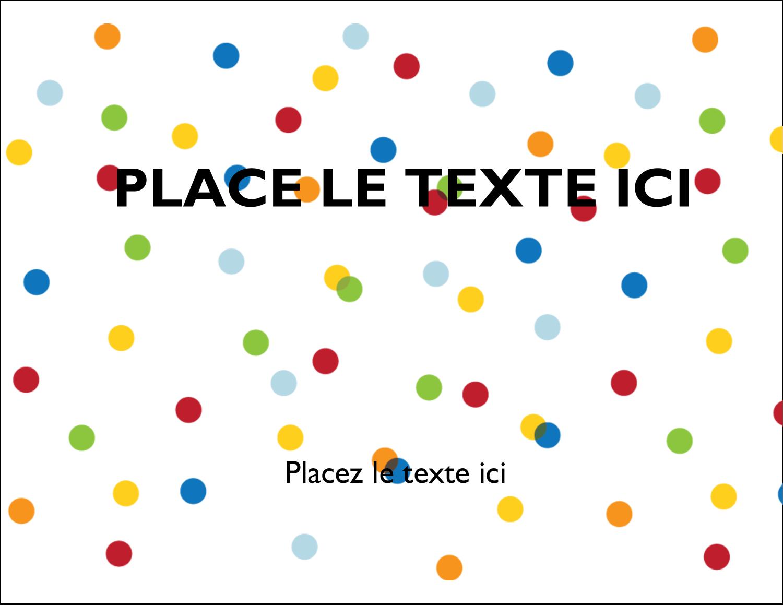 """5½"""" x 4¼"""" Carte Postale - Confettis d'anniversaire"""