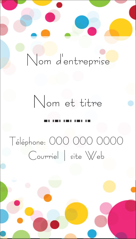 """3½"""" x 2"""" Carte d'affaire - Confettis d'anniversaire"""