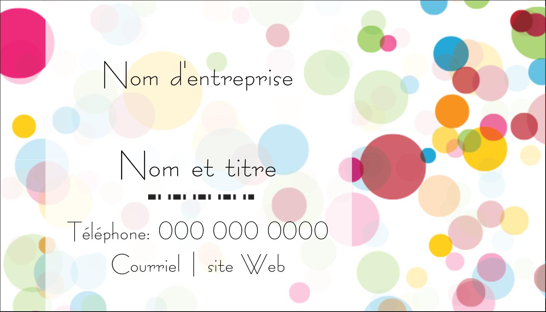 """2"""" x 3½"""" Carte d'affaire - Confettis d'anniversaire"""