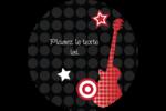 Guitare d'anniversaire Étiquettes rondes - gabarit prédéfini. <br/>Utilisez notre logiciel Avery Design & Print Online pour personnaliser facilement la conception.