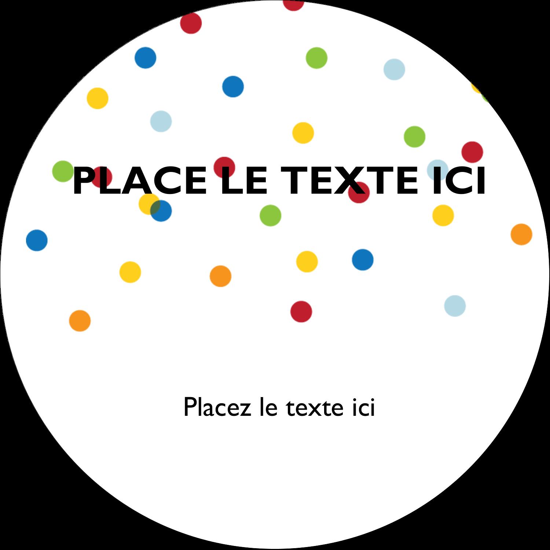 """2½"""" Diameter Étiquettes rondes - Confettis d'anniversaire"""