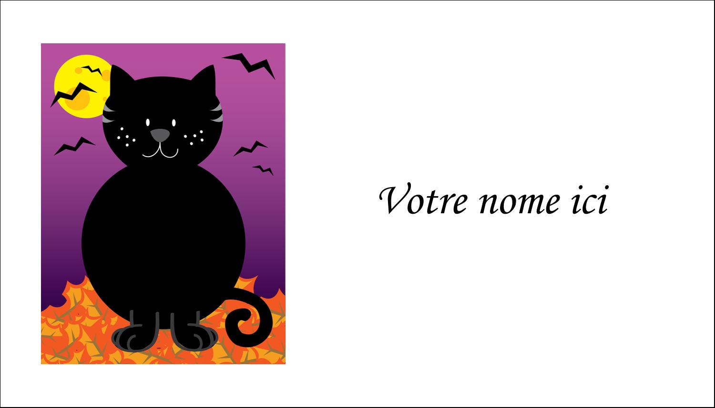 """3"""" x 5"""" Cartes Pour Le Bureau - Chatte noire d'Halloween"""