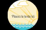 Surfeur rétro Étiquettes Voyantes - gabarit prédéfini. <br/>Utilisez notre logiciel Avery Design & Print Online pour personnaliser facilement la conception.