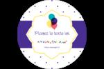 Fournitures d'anniversaire Étiquettes Voyantes - gabarit prédéfini. <br/>Utilisez notre logiciel Avery Design & Print Online pour personnaliser facilement la conception.