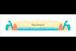 Surfeur rétro Affichette - gabarit prédéfini. <br/>Utilisez notre logiciel Avery Design & Print Online pour personnaliser facilement la conception.