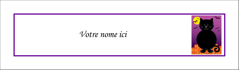 """3½"""" x 11"""" Affichette - Chatte noire d'Halloween"""
