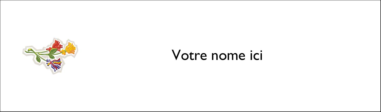 """2½"""" x 8½"""" Affichette - Trois fleurs"""