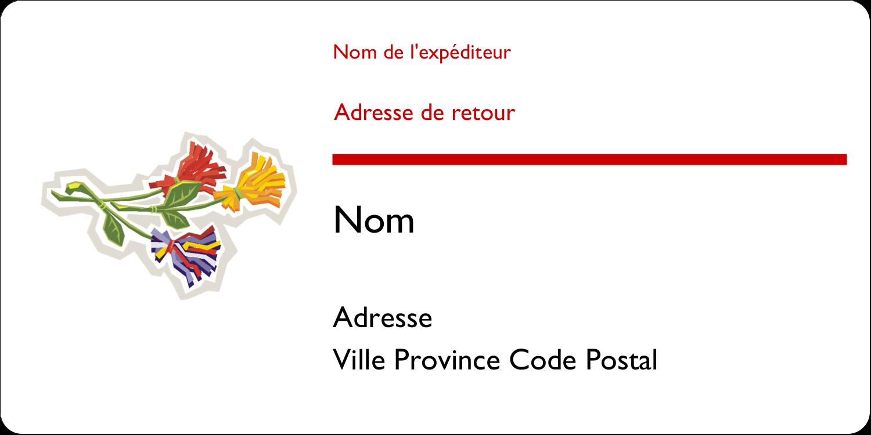 """2"""" x 4"""" Étiquettes d'expédition - Trois fleurs"""