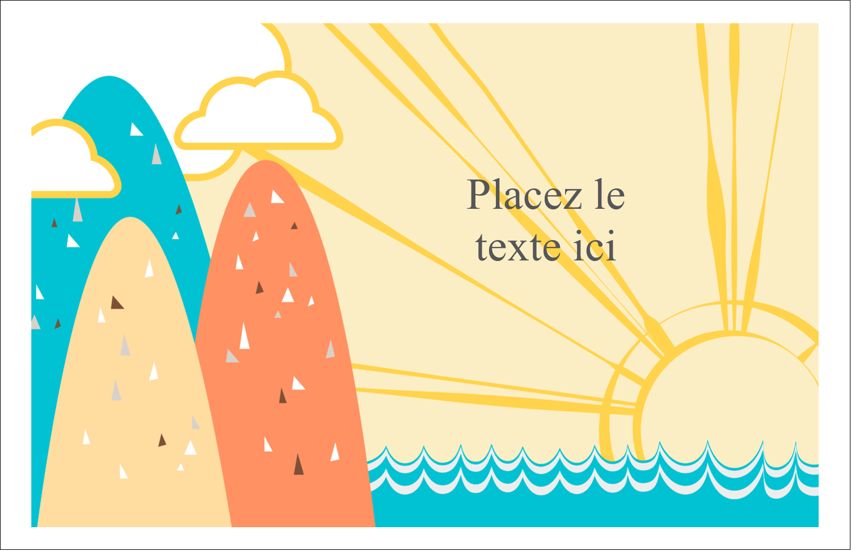 """8½"""" x 11"""" Cartes Et Articles D'Artisanat Imprimables - Surfeur rétro"""