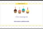 Fournitures d'anniversaire Cartes Et Articles D'Artisanat Imprimables - gabarit prédéfini. <br/>Utilisez notre logiciel Avery Design & Print Online pour personnaliser facilement la conception.
