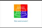 Gâteau d'anniversaire Cartes de souhaits pliées en deux - gabarit prédéfini. <br/>Utilisez notre logiciel Avery Design & Print Online pour personnaliser facilement la conception.