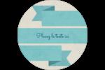 Ruban turquoise Étiquettes de classement - gabarit prédéfini. <br/>Utilisez notre logiciel Avery Design & Print Online pour personnaliser facilement la conception.