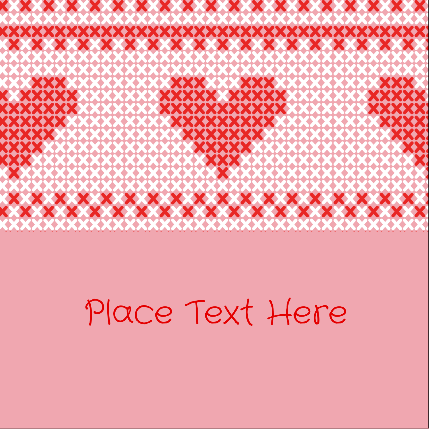 "2"" x 2"" Square Label - Valentine Cross Stitch"