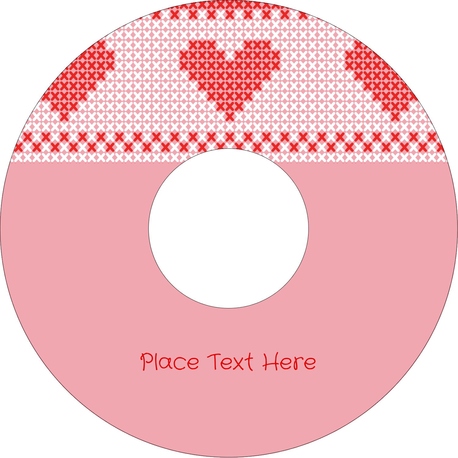 "4.65"" CD-DVD Label - Valentine Cross Stitch"