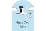 Expect great results from custom projects using pre-designed Baby Vintage Stork templates.
