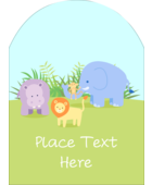 Infuse serious cuteness into custom projects with pre-designed Baby Safari templates.