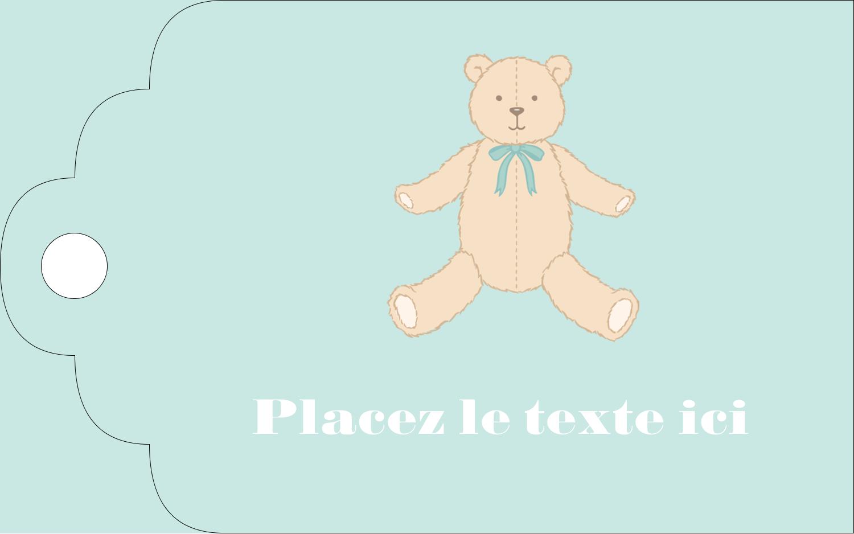 """2"""" x 1⅛"""" Étiquettes imprimables - Nounours pour bébé"""