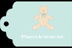 Nounours pour bébé Étiquettes imprimables - gabarit prédéfini. <br/>Utilisez notre logiciel Avery Design & Print Online pour personnaliser facilement la conception.
