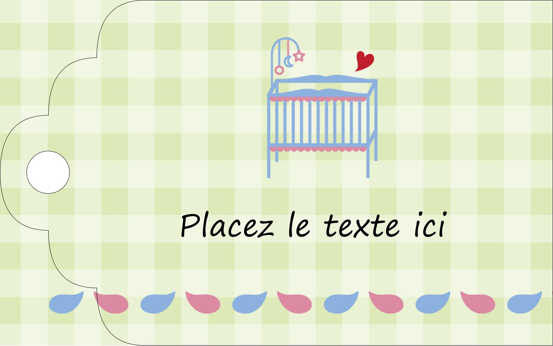 """2"""" x 1⅛"""" Étiquettes imprimables - Lit de bébé"""