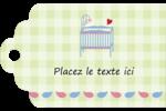 Lit de bébé Étiquettes imprimables - gabarit prédéfini. <br/>Utilisez notre logiciel Avery Design & Print Online pour personnaliser facilement la conception.