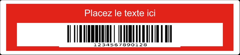 """3½"""" x 1-1/32"""" Étiquette Industrielles - Code-barres de série"""
