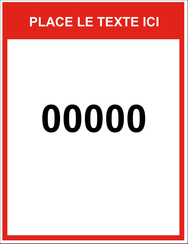 """8½"""" x 11"""" Étiquette Industrielles - Numéros de série"""