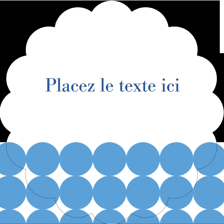 """½"""" x 1¾"""" Étiquettes D'Adresse - Cercles bleus"""