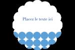 Cercles bleus Étiquettes D'Adresse - gabarit prédéfini. <br/>Utilisez notre logiciel Avery Design & Print Online pour personnaliser facilement la conception.
