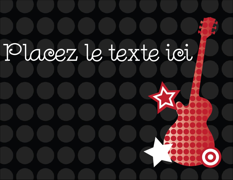 "4¼"" X 5½"" Carte Postale - Guitare d'anniversaire"