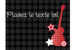 Guitare d'anniversaire Carte Postale - gabarit prédéfini. <br/>Utilisez notre logiciel Avery Design & Print Online pour personnaliser facilement la conception.