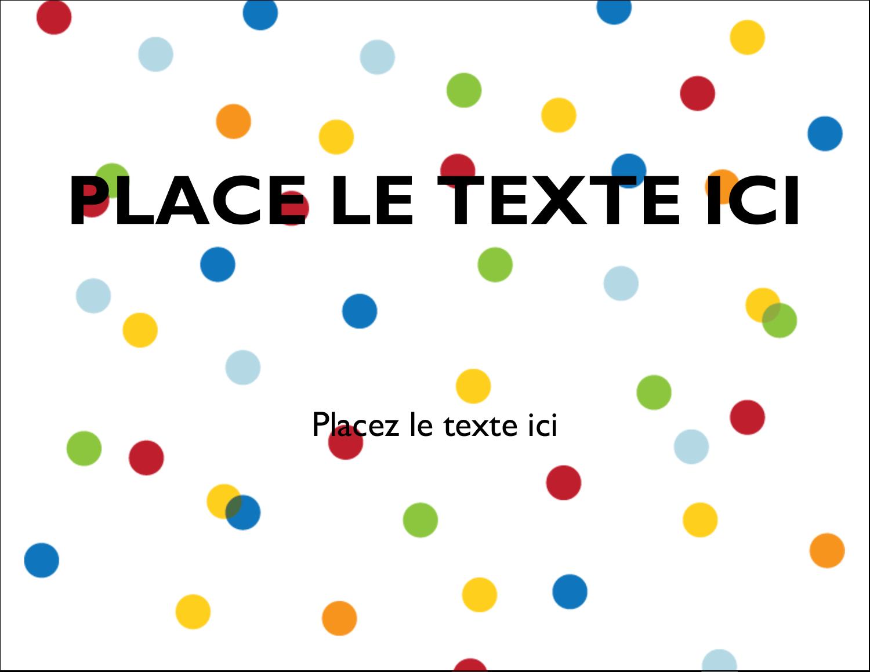 """4¼"""" X 5½"""" Carte Postale - Confettis d'anniversaire"""