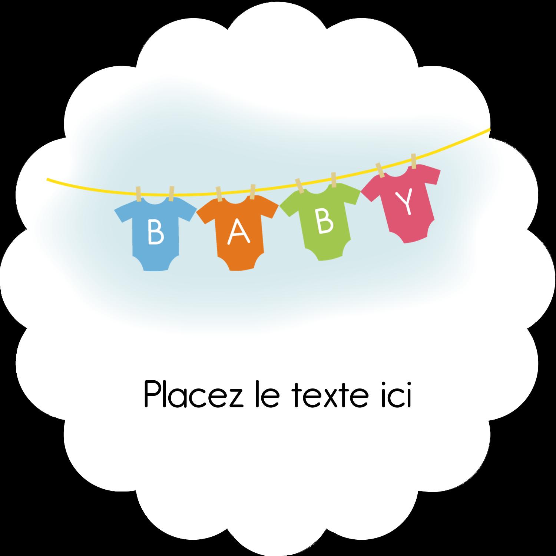"""½"""" x 1¾"""" Étiquettes D'Adresse - Combinaisons pour bébé"""