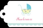 Poussette pour bébé avec tons bleus  Étiquettes imprimables - gabarit prédéfini. <br/>Utilisez notre logiciel Avery Design & Print Online pour personnaliser facilement la conception.