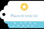 Étoiles avec tons bleus et jaunes Étiquettes imprimables - gabarit prédéfini. <br/>Utilisez notre logiciel Avery Design & Print Online pour personnaliser facilement la conception.