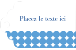 Cercles bleus Étiquettes imprimables - gabarit prédéfini. <br/>Utilisez notre logiciel Avery Design & Print Online pour personnaliser facilement la conception.