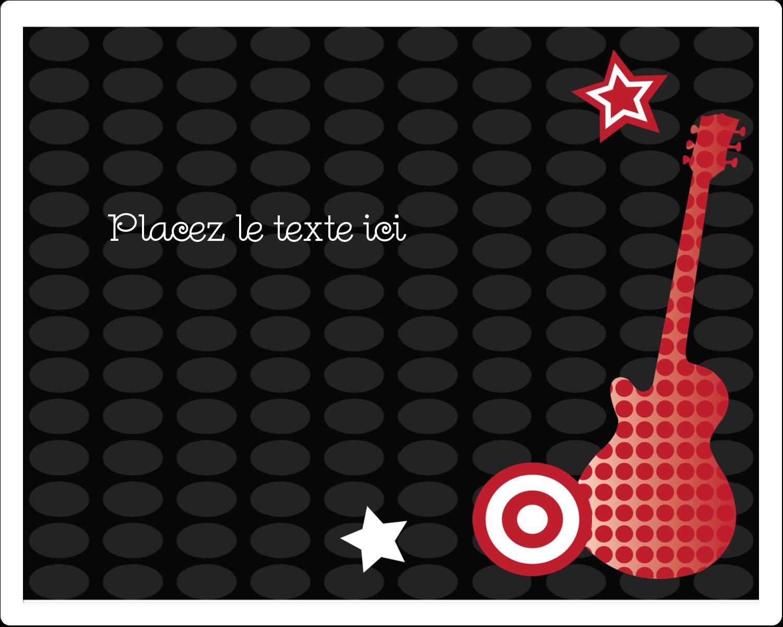 """3"""" x 3¾"""" Étiquettes rectangulaires - Guitare d'anniversaire"""