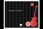 Guitare d'anniversaire Étiquettes rectangulaires - gabarit prédéfini. <br/>Utilisez notre logiciel Avery Design & Print Online pour personnaliser facilement la conception.