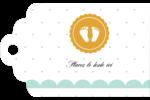 Empreintes de bébé Étiquettes imprimables - gabarit prédéfini. <br/>Utilisez notre logiciel Avery Design & Print Online pour personnaliser facilement la conception.