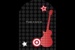 Guitare d'anniversaire Étiquettes arrondies - gabarit prédéfini. <br/>Utilisez notre logiciel Avery Design & Print Online pour personnaliser facilement la conception.