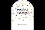 Confettis d'anniversaire Étiquettes arrondies - gabarit prédéfini. <br/>Utilisez notre logiciel Avery Design & Print Online pour personnaliser facilement la conception.