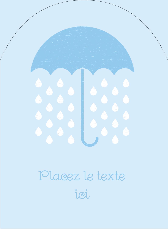 """4¾"""" x 3½"""" Étiquettes rectangulaires - Parapluie pour bébé"""