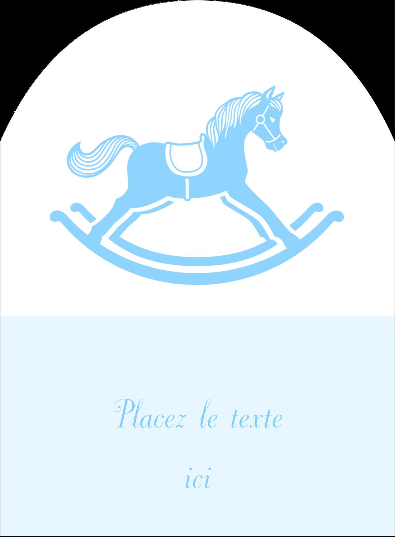 """4¾"""" x 3½"""" Étiquettes rectangulaires - Cheval à bascule"""