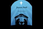 Berceau de Noël Étiquettes rectangulaires - gabarit prédéfini. <br/>Utilisez notre logiciel Avery Design & Print Online pour personnaliser facilement la conception.
