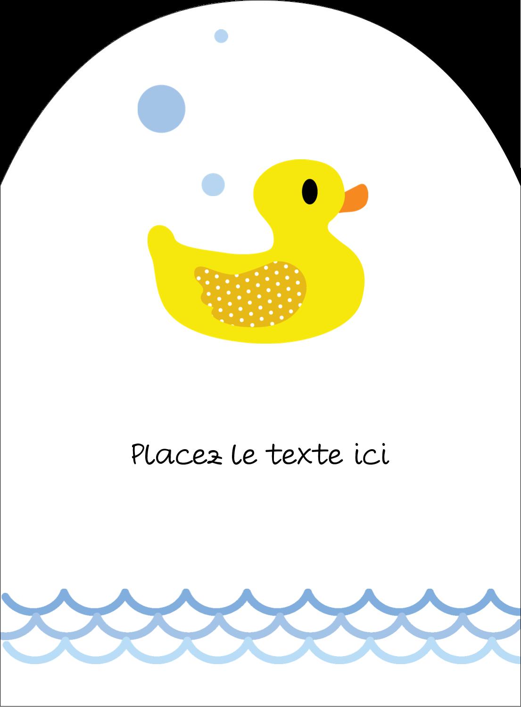 """4¾"""" x 3½"""" Étiquettes rectangulaires - Petit canard"""