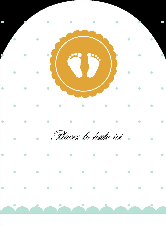"""4¾"""" x 3½"""" Étiquettes rectangulaires - Empreintes de bébé"""