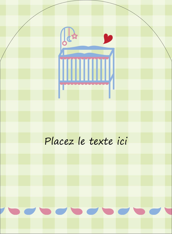 """4¾"""" x 3½"""" Étiquettes rectangulaires - Lit de bébé"""