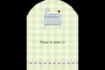Lit de bébé Étiquettes rectangulaires - gabarit prédéfini. <br/>Utilisez notre logiciel Avery Design & Print Online pour personnaliser facilement la conception.