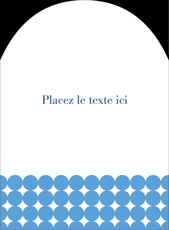 """4¾"""" x 3½"""" Étiquettes rectangulaires - Cercles bleus"""