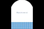 Cercles bleus Étiquettes rectangulaires - gabarit prédéfini. <br/>Utilisez notre logiciel Avery Design & Print Online pour personnaliser facilement la conception.